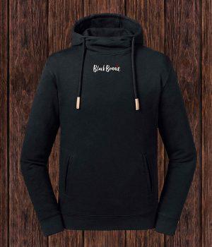 black-bonnie-schriftzug_organic-hoodie-schwarz_front