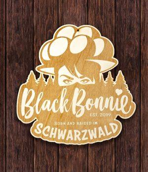 black-bonnie_holzschild_