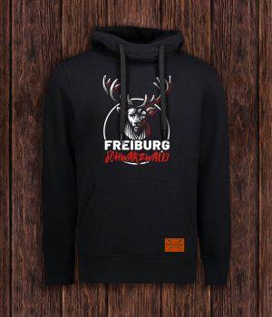 hoodie-hirsch_freiburg-rot